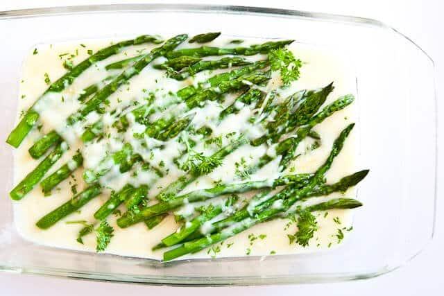 Groene asperges uit de oven